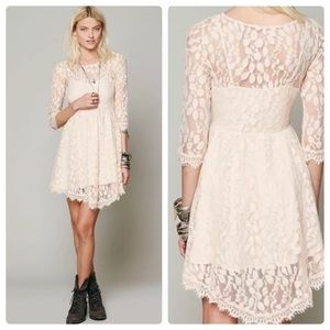 Free People Floral Mesh Lace Dress Size 4